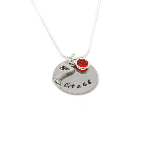 Personalised 7th Birthday Birthstone Necklace - Gift Boxed & Free Delivery UK